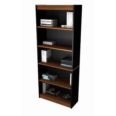 Innova Five-Shelf Bookcase Finish: Tuscany Brown & Black
