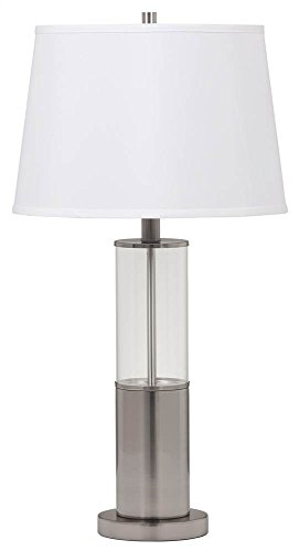 Ashley Furniture Signature Design - Norma Metal and Glass Table Lamps - Set of 2 - Silver -
