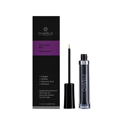 Eyelash Growth Serum Made in Germany Natural Highly Effective Enhancer and Booster for Longer Eyelashes and Thicker Eyebrows I 0.135 Fl.Oz Top Lash Pro