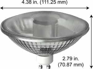 Halogen Ceiling Lights 75R111GU10/FL25 130V GU10 BA (Case of 12) by Damar