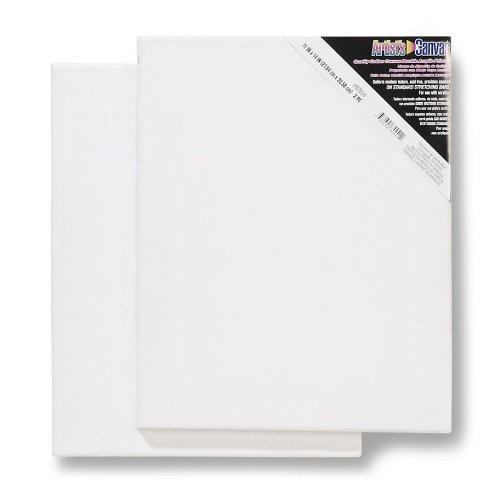 Darice Stretched Canvas, 11-Inch by 14-Inch (Pack of (Acrylic Paint Canvas)