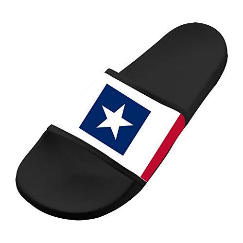 (Texas Star Flag Shape Bedroom Sandals Unisex Original Slippers Beach Summer Flip Flops 12 B(M) US)