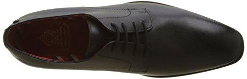 Negro De Cordones Zapatos 010 Para Shilling waxy Base London Black Hombre Derby wqaUcB