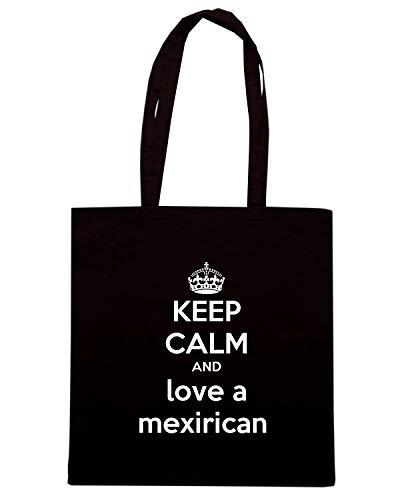 LOVE Shopper Borsa KEEP CALM A AND Nera MEXIRICAN TKC1313 xYvvnHfz