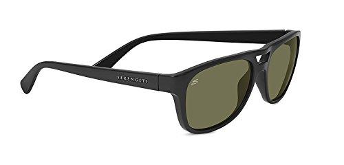 Serengeti Sunglasses ForWomen MenTommaso 7954 Polarized Photochromic Black Green lenses Full Rim Rectangular 57 mm Acetate