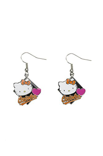 Mlb Baltimore Orioles Charm (MLB Baltimore Orioles Hello Kitty Diamond Dangler Earrings)