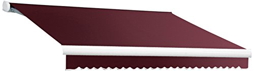 Awntech 12-Feet Key West Left Motorized Retractable Awning, 120-Inch Projection, Burgundy