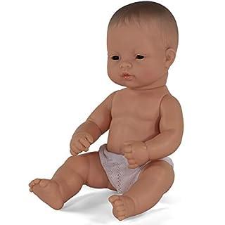 Miniland Educational - 12.63'' Anatomically Correct Newborn Baby Doll, Asian Boy
