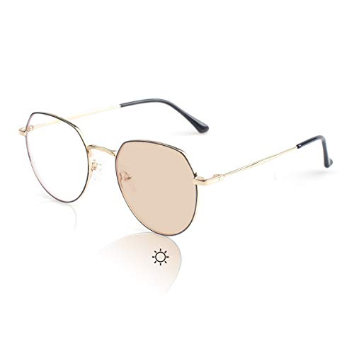 Transition Photochromic Sunglasses with Anti-blue Lens Dual-use for Outdoor 99% UV Protection,Anti Glare, Reduce Eye Fatigue OM8006C01C
