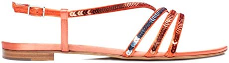 Tabitha Simmons 'Betty' Satin Flat Sandal w/Sequin Straps