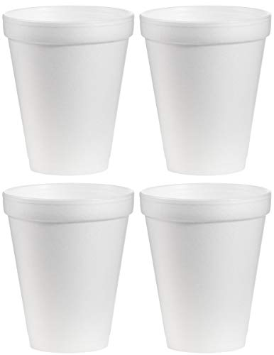 DART hhdyt Styrofoam Insulated Foam Cups, 4 Cases of 1000 Cups