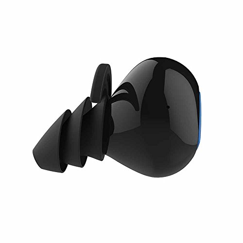 Morjava D900S Wireless Bluetooth Sport Noise Cancelling Sweatproof Headphones in-Ear Design Bulit-in Mic IPX4 Waterproof apt-x Sound Effect Come with Charging Box -Black