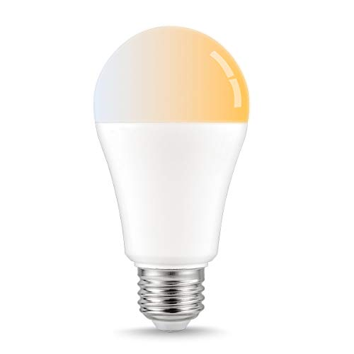 LOHAS White Ambiance Smart A19 LED Bulb, 80W Light Bulbs Equivalent(12W), WiFi LED Light Dimmable Tunable White Warm to Daylight, E26 Base, Compatible with Amazon Alexa and Google Assistant