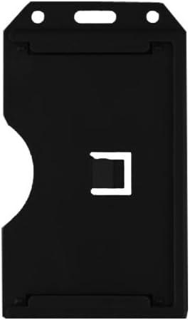 100 Per Pack 1840-3081 Vertical Black 2-Sided Rigid Plastic Multi-Card Holder