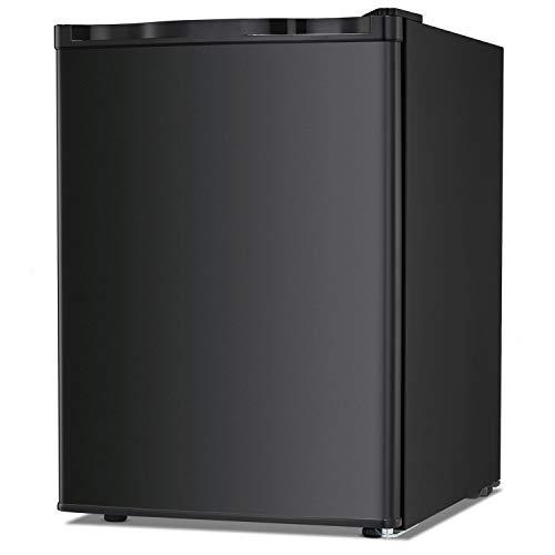 Bossin Energy Star 2.1 Cu.Ft Compact Mini Freezer Standing Upright Freezer Food Storage Machine with Adjustable Thermostat for Basement/Home/Apartment/Office, Single Door Mini Fridge(Black)