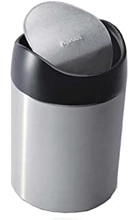 simplehuman countertop trash can brushed stainless steel 15 l 040 gal