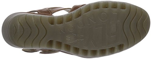Fly London Damen Ygor Sandalen Braun (camel 001)