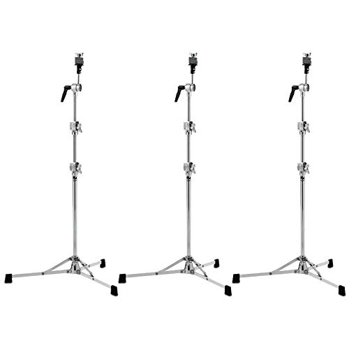 DW 6710 Straight Cymbal Stand Flat Base (3 Pack Bundle)