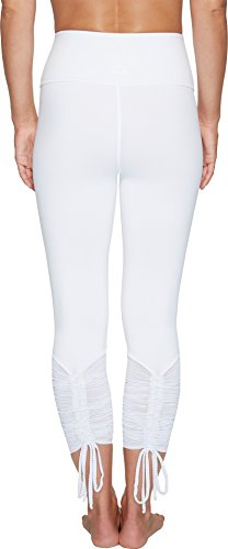 Shirred Leggings (Beyond Yoga Women's True Stripes Shirred Leggings White Pants)