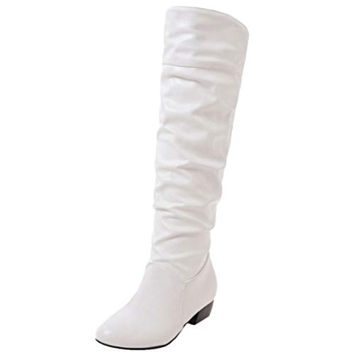 Slouch White AicciAizzi Women Boots On Pull qZwFH7v