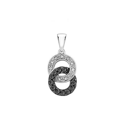 Jouailla - Pendentif or blanc 375/1000e et diamant
