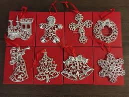 - Lenox Sparkle And Scroll Holiday Ornaments (Set-8)