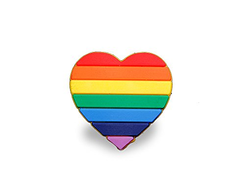 Fundraising For A Cause 2 Pack LGBTQ-Gay Pride Rainbow Heart Silicone Pins (2 Pins in a Bag) ()