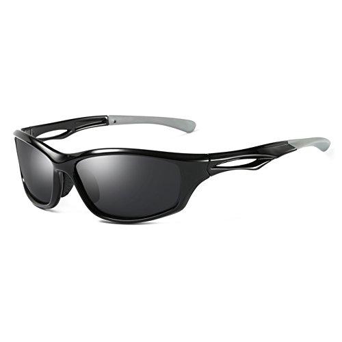Anti WYYY Matte Gafas Gafas Conducción Clásico Color Black Negro Luz Libre Sol Protección Cuadrada Hombres UVA De Gafas De Protección 100 Aire Solar Caja Polarizada UV fgTfwxF