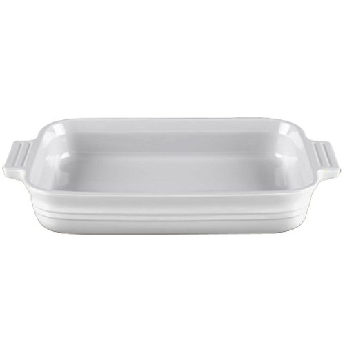 Le Creuset Heritage Stoneware 7-by-5-Inch Rectangular Dish, White