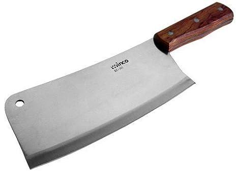 Amazon.com: winco Heavy Duty de carnicero con mango de ...