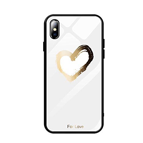 Fvntuey Compatible with Xiaomi Mi 5X Accessories Hard PC [Tempered Glass Back] Shell Cool Pattern Design with Soft TPU Bumper Full Body Protection Case Fashion Slim Cover for Xiaomi Mi 5X(Love 3)