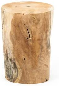 Mesa/banqueta tronco de madera redondo: Amazon.es: Hogar
