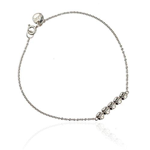Al. Jana Reinhardt Argent 925/1000-Fleur-Bracelet femme - 17 cm
