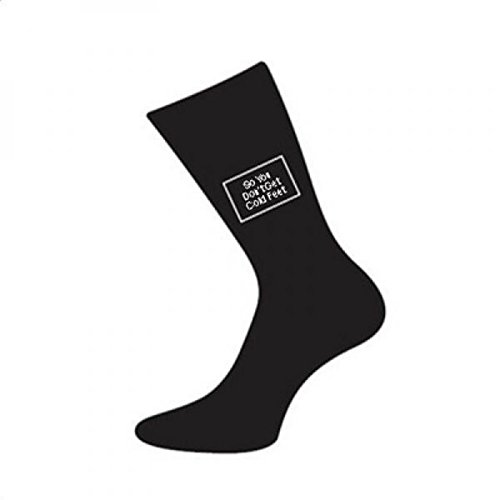 Groom Socks (Mens Black Cotton Wedding Day Socks Various Titles (So You Don't Get Cold Feet))