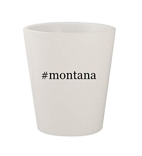 #montana - Ceramic White Hashtag 1.5oz Shot Glass