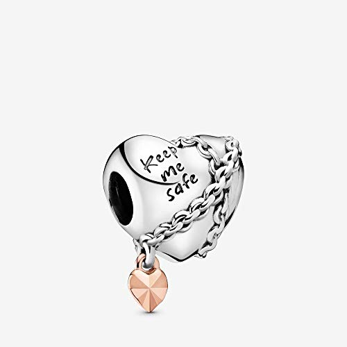 PANDORA Chained Heart PANDORA Rose Charm - 788344 (Pandora Charm Chicago)