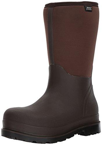 Bogs Men's Stockman Waterproof Insulated Composite Toe Work Rain Boots, Brown, 11 D(M) US