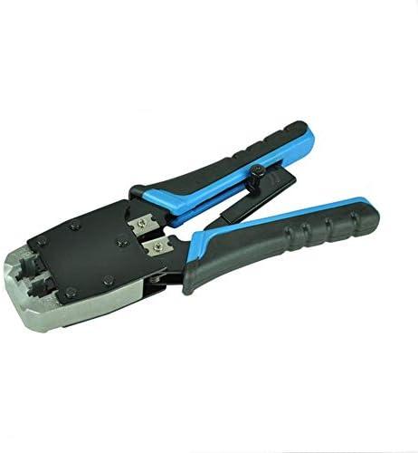 ケーブルカッター 圧着ペンチ RJ45/12/11 ネットワークツールケーブルクランプ 8P8C 6P6C コネクタ圧着工具 手動ケーブルカッター