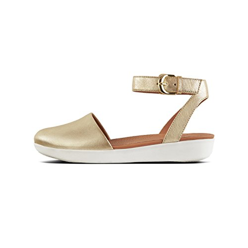 Bride Femme Fitflop Sandals Ballerines Toe À gold Closed Metallic Cheville 537 Cova Tm Or 8IZAWZqvw