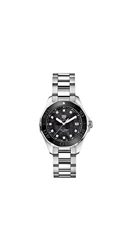 Tag Heuer Aquaracer Black Mother of Pearl Diamond Dial Ladies Watch WAY131M.BA0748