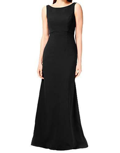Jungendweihe Schwarz Hundkragen Abendkleider Lang Festlichkleider Brautmutterkleider Charmant Elegant Damen Kleider 4YzHwOS