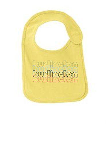 Burlington Vermont Retro Funny Infant Jersey Bib Yellow One - Burlington Vermont Church Street