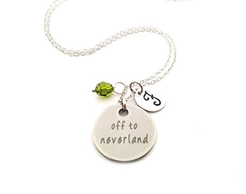Off to Neverland Charm Necklace - Personalized Sterling Silver Jewelry