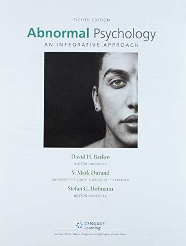 Abnormal Psychology + Mindtap Psychology, 1 Term 6 Months Access Card: An Integrative Approach