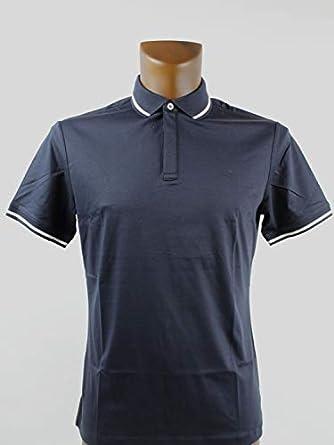 Emporio Armani Hombre Camiseta Polo Azul Azul Marino: Amazon.es ...