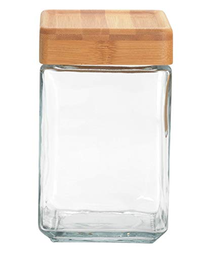 Anchor Hocking Stackable Jar w/ Bamboo Lid, 1.5 Qt