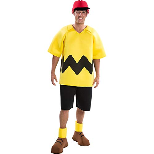 Charlie Brown Lucy Halloween Costumes (Palamon Peanuts: Deluxe Charlie Brown Adult Costume for Adults -)