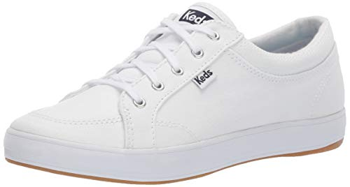 Keds Women's Center Twill Sneaker, White, 9 ()