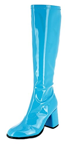Hippie Nbsp; Varnish Colors Woman Gogo Boots Retro 1970s Türkis Currency Party couleurs 1980s Disco Shoes apPwZ