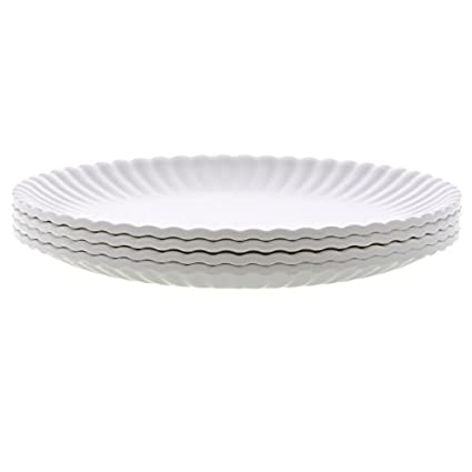 u0026quot;What Is It?u0026quot; Reusableu0026quot;Paperu0026quot; Dinner Plate 9  sc 1 st  Amazon.com : 9 inch dinner plate set - pezcame.com